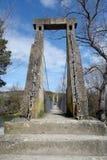 Un'architettura di viaggio del ponte sospeso in un giorno di esterno della costruzione Fotografia Stock