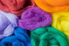 Un arcobaleno di lana fotografia stock libera da diritti