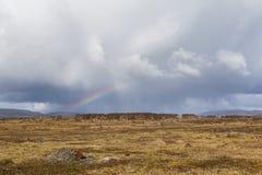 Un arcobaleno sopra il parco nazionale di Cucao Immagine Stock