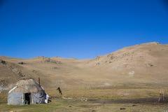 Un'area tradizionale di Kol di canzone del yurt- di Kirgiz Immagini Stock Libere da Diritti