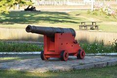 Un'arma del cannone di guerra al museo immagini stock