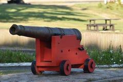Un'arma del cannone di guerra al museo fotografia stock libera da diritti