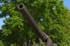 Un arma del otomano de la 1ra guerra mundial mira hacia fuera al estrecho del gallipoli Imágenes de archivo libres de regalías