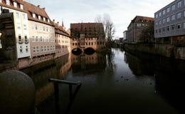 Un arrêt à Nuremberg Image stock