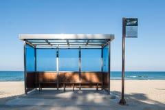 Un arrêt d'autobus célèbre de BTS images libres de droits