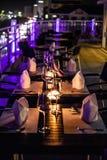 Un arreglo de la tabla de cena Imagen de archivo