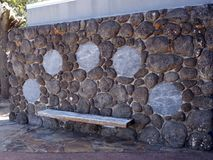 Un arreglo del asiento con arte aborigen Fotos de archivo libres de regalías