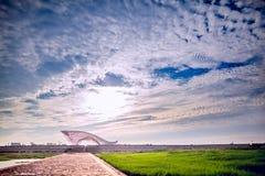 Un'arte sotto il cielo Immagini Stock Libere da Diritti