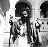 Un ascetico indiano Fotografia Stock