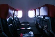 Un asiento en el avión Foto de archivo