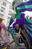 Un asistente del carnaval en el carnaval de Notting Hill Imágenes de archivo libres de regalías