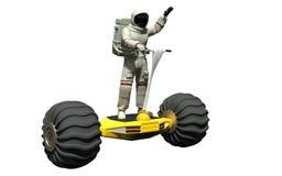 Un astronaute sur un hoverboard illustration libre de droits