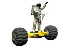 Un astronaute sur un hoverboard illustration stock