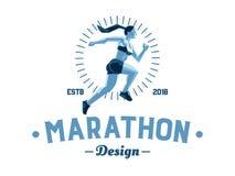 Un atleta de sexo femenino está corriendo libre illustration