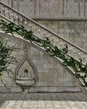 Un atrio de piedra ilustración del vector