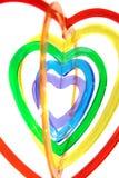 Un'attaccatura a forma di di sei formati del cuore Fotografie Stock