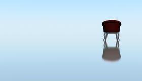Un'attesa sola della sedia Immagini Stock Libere da Diritti