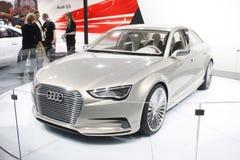 Un Audi Q3 su visualizzazione all'Expo automatica 2012 Fotografia Stock Libera da Diritti