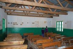 Un'aula della scuola secondaria del villaggio di Pomerini in Tanzania, Af Fotografia Stock