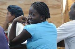 Un'aula dentro cita Soleil- Haiti. Immagine Stock Libera da Diritti