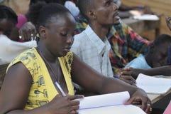 Un'aula dentro cita Soleil- Haiti. Immagini Stock Libere da Diritti