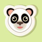 Un autoadesivo con un fronte del panda del fumetto Fotografie Stock