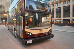 Un autobús en Chicago fotos de archivo libres de regalías