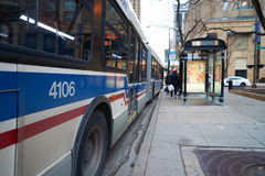 Un autobús en Chicago fotografía de archivo libre de regalías