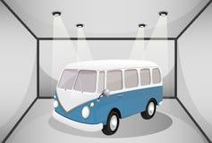 Un autobus dans le garage Images stock