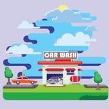 Un autolavaggio automatico sulla vacanza immagini stock