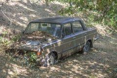 Un'automobile di decomposizione di Lada del Russo Fotografie Stock Libere da Diritti
