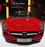Un'automobile di Mercedes-Benz SLS AMG Immagini Stock Libere da Diritti