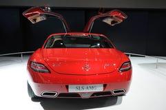 Un'automobile di Mercedes-Benz SLS AMG Immagine Stock Libera da Diritti
