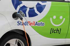 Un'automobile elettrica Immagini Stock