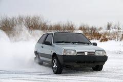Un'automobile grigia immagini stock libere da diritti
