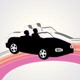 Un'automobile sportiva Immagini Stock