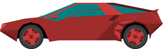 Un'automobile sportiva rossa illustrazione vettoriale