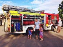 Un'autopompa antincendio Immagini Stock