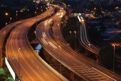 Un'autostrada senza pedaggio elevata Immagine Stock