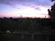 Un autre beau coucher du soleil en Egypte photographie stock libre de droits