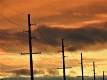 Un autre beau lever de soleil au-dessus d'arsenal de Redstone Images libres de droits