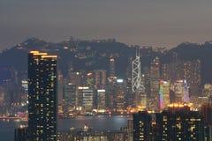 Un autre côté de la vue 1 de nuit du HK Image stock