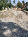 Un autre jour de construction dans Irpin ou Irpen - l'UKRAINE Images libres de droits