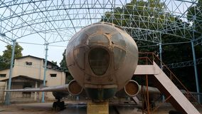 Un avión en parque del modi del sayyad Foto de archivo