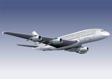 Un avion de ligne à réaction de 380 Lagest Image libre de droits