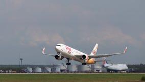 Un avion de passagers Boeing 767-3Q8ER (w), Anex-visite Photographie stock