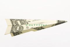 Un avion du dollar Images libres de droits