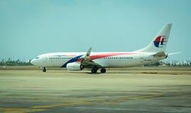 Un avion sur la piste à l'aéroport de KLIA en Kuala Lumpur, Malaisie Photos libres de droits