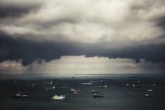 Un avvertimento di uragano Fotografia Stock