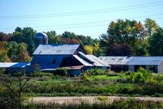 Un'azienda agricola di lavoro nel Michigan Fotografie Stock Libere da Diritti